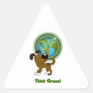 Think Green Boots Sticker
