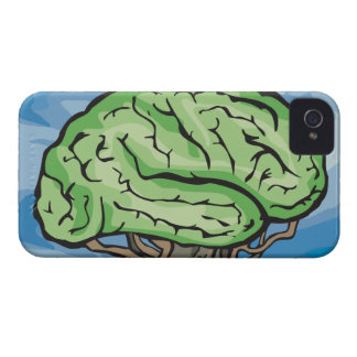 Think Green Brain iPhone 4 Cover
