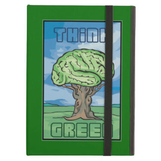 Think Green, Brain Cover For iPad Air
