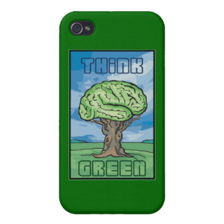 Think Green, Brain iPhone 4/4S Cases