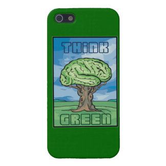 Think Green, Brain iPhone 5 Cases