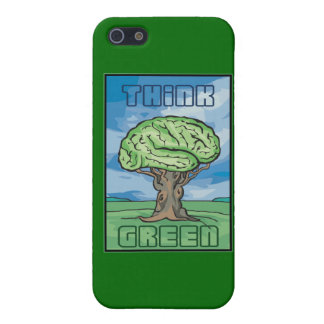 Think Green, Brain iPhone 5 Cover