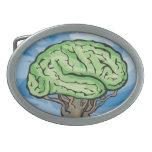 Think Green Brain Oval Belt Buckles