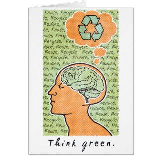 Think Green Brain Power Card