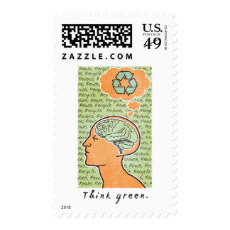 Think Green Brain Power Stamps