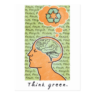Think Green Brain Power Postcard