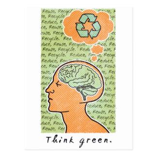 Think Green Brain Power Postcard