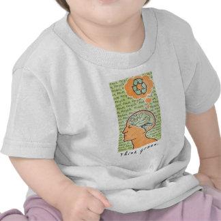Think Green Brain Power Tee Shirts
