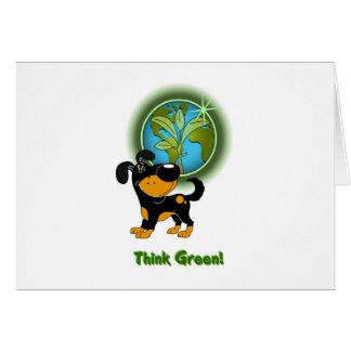 Think Green! (Bubba) Greeting Card