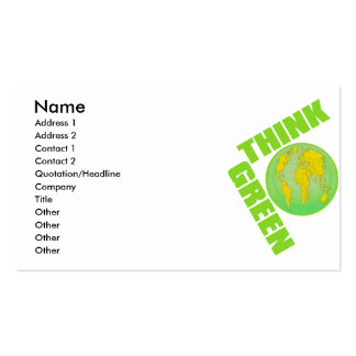 Think_Green Double-Sided Standard Business Cards (Pack Of 100)