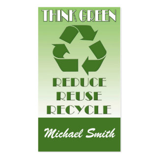 Think green Double-Sided standard business cards (Pack of 100)