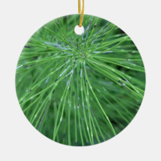 Think Green! by GRASSROOTSDESIGNS4U Double-Sided Ceramic Round Christmas Ornament
