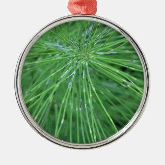 Think Green! by GRASSROOTSDESIGNS4U Round Metal Christmas Ornament
