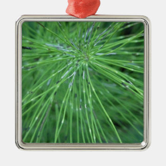 Think Green! by GRASSROOTSDESIGNS4U Square Metal Christmas Ornament
