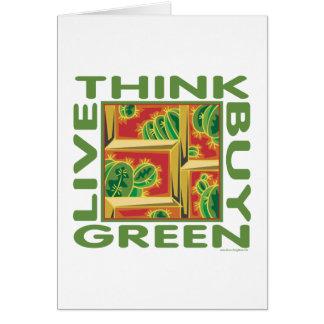 Think Green, Cactus Card