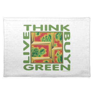 Think Green, Cactus Cloth Placemat