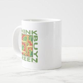Think Green, Cactus Giant Coffee Mug
