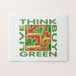 Think Green, Cactus Jigsaw Puzzles