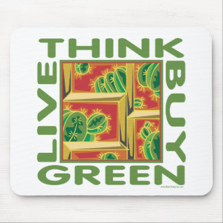 Think Green, Cactus Mouse Pad