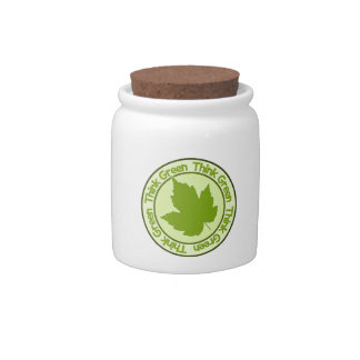 THINK GREEN candy jars