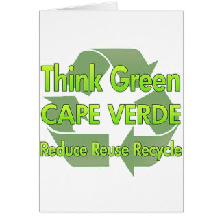 Think Green Cape Verde Greeting Card