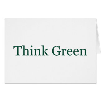 Think Green Card