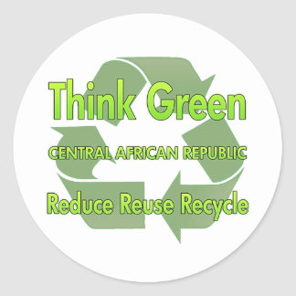 Think Green Central African Republic Sticker