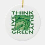 Think Green Christmas Tree Ornaments