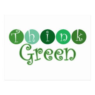 Think Green Circles Postcards