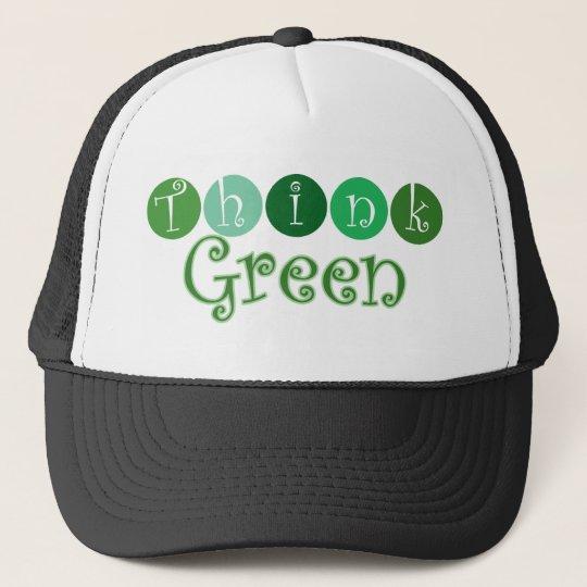Think Green Circles Trucker Hat