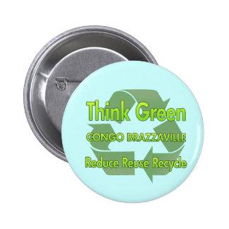 Think Green Congo Brazzaville Pin