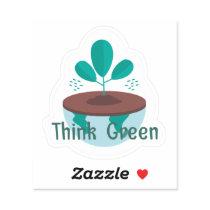 Think Green Custom Shape Sticker
