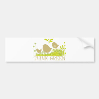 Think Green Cute Products Bumper Stickers