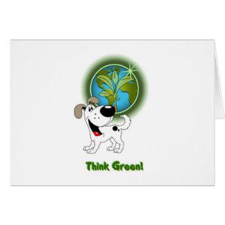 Think Green! - Cutie Greeting Card