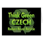 Think Green Czech Cards