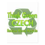 Think Green Czech Post Cards