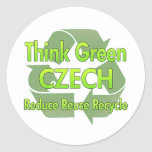 Think Green Czech Sticker