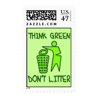 Think Green Don' t Litter Postage