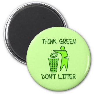 THINK GREEN, DON'T LITTER MAGNET