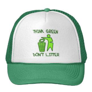 THINK GREEN, DON'T LITTER TRUCKER HAT