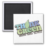 Think Green Earth Day Fridge Magnet