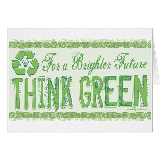 Think Green Earth Day Gear Card