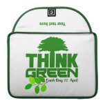 THINK GREEN (Earth Day) MacBook sleeve Sleeves For MacBook Pro