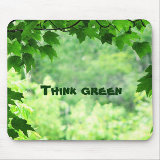 Think Green Earth Day Mouse Pad