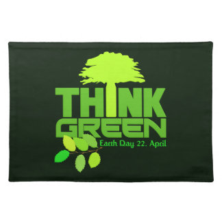 THINK GREEN (Earth Day) placemat