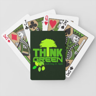 THINK GREEN (Earth Day) playing cards