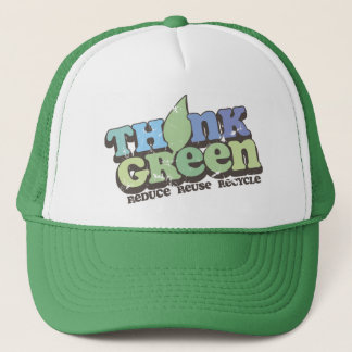 Think Green Earth Day Trucker Hat
