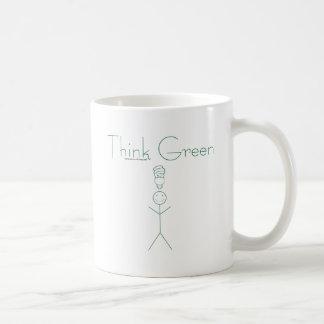 Think green: Eco-friendly stick person t-shirts Mug