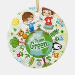 Think Green Eco Kids Christmas Ornaments