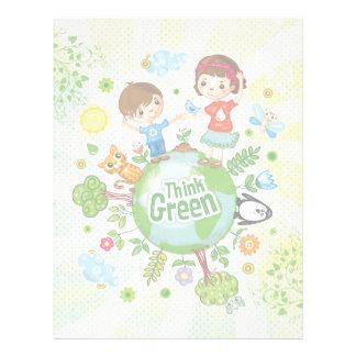 Think Green Eco Kids Custom Letterhead
